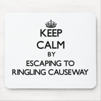 Keep calm by escaping to Ringling Causeway Florida Mouse Pad