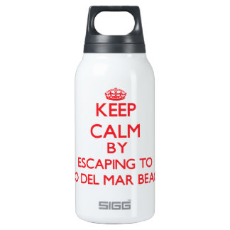 Keep calm by escaping to Rio Del Mar Beach Califor 10 Oz Insulated SIGG Thermos Water Bottle