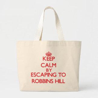 Keep calm by escaping to Robbins Hill Massachusett Canvas Bag