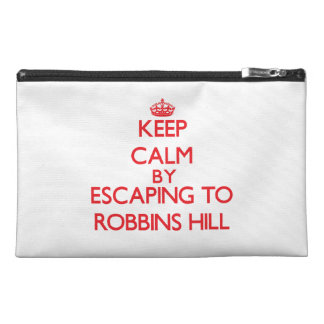 Keep calm by escaping to Robbins Hill Massachusett Travel Accessories Bag