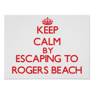 Keep calm by escaping to Rogers Beach Michigan Print