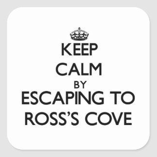 Keep calm by escaping to Ross'S Cove California Sticker