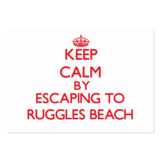 Keep calm by escaping to Ruggles Beach Rhode Islan Large Business Cards (Pack Of 100)