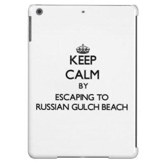 Keep calm by escaping to Russian Gulch Beach Calif iPad Air Cover
