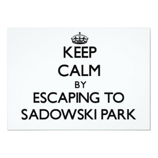 Keep calm by escaping to Sadowski Park New Jersey 5x7 Paper Invitation Card