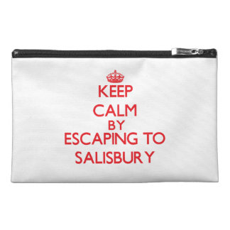Keep calm by escaping to Salisbury Massachusetts Travel Accessory Bags
