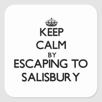 Keep calm by escaping to Salisbury Massachusetts Square Sticker
