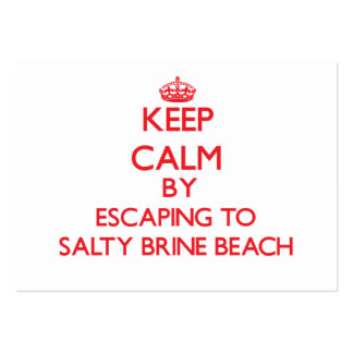 Keep calm by escaping to Salty Brine Beach Rhode I Business Card Template