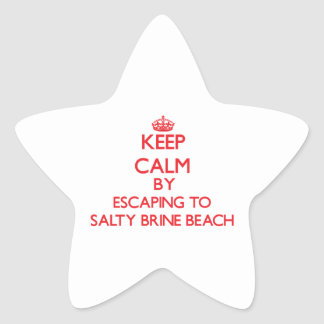 Keep calm by escaping to Salty Brine Beach Rhode I Star Sticker