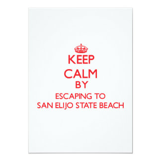 Keep calm by escaping to San Elijo State Beach Cal Custom Announcement
