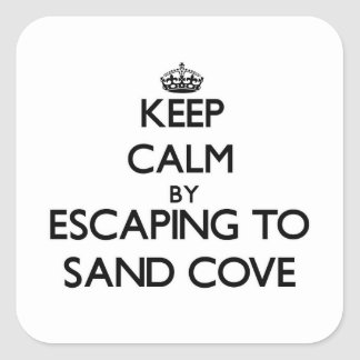 Keep calm by escaping to Sand Cove Wisconsin Sticker