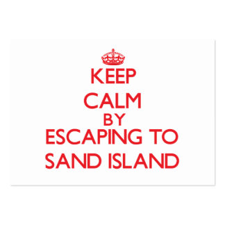 Keep calm by escaping to Sand Island Hawaii Business Card Templates