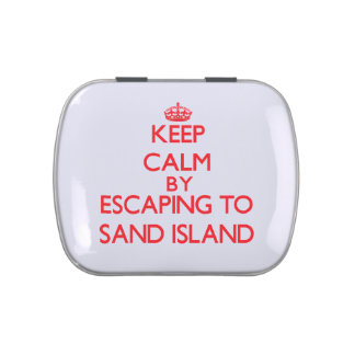 Keep calm by escaping to Sand Island Hawaii Candy Tin