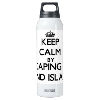 Keep calm by escaping to Sand Island Hawaii SIGG Thermo 0.5L Insulated Bottle