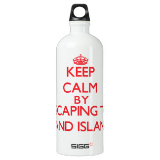Keep calm by escaping to Sand Island Hawaii SIGG Traveler 1.0L Water Bottle