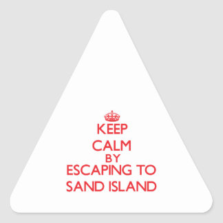 Keep calm by escaping to Sand Island Hawaii Stickers