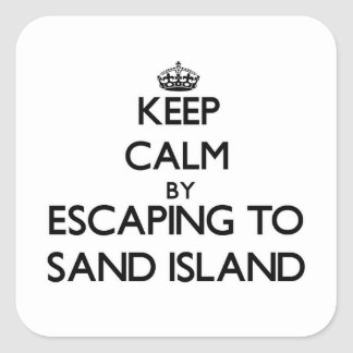 Keep calm by escaping to Sand Island Hawaii Sticker