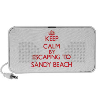 Keep calm by escaping to Sandy Beach Alaska iPod Speakers