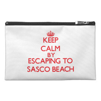 Keep calm by escaping to Sasco Beach Connecticut Travel Accessories Bag