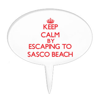 Keep calm by escaping to Sasco Beach Connecticut Cake Picks