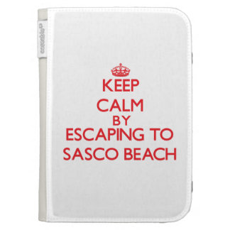 Keep calm by escaping to Sasco Beach Connecticut Kindle Cases