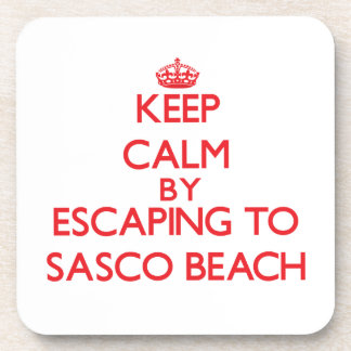 Keep calm by escaping to Sasco Beach Connecticut Drink Coasters