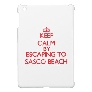 Keep calm by escaping to Sasco Beach Connecticut iPad Mini Cases