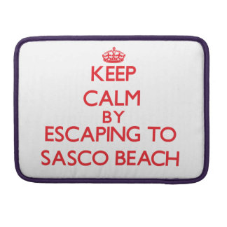 Keep calm by escaping to Sasco Beach Connecticut Sleeve For MacBooks
