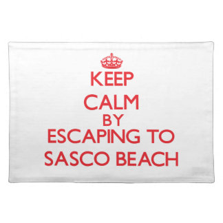Keep calm by escaping to Sasco Beach Connecticut Place Mats