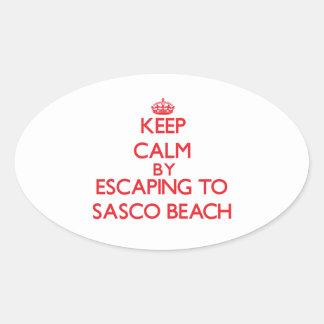 Keep calm by escaping to Sasco Beach Connecticut Sticker
