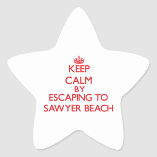 Keep calm by escaping to Sawyer Beach New Hampshir Stickers