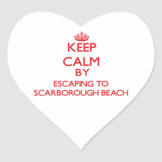 Keep calm by escaping to Scarborough Beach Maine Sticker