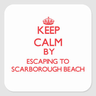 Keep calm by escaping to Scarborough Beach Maine Stickers