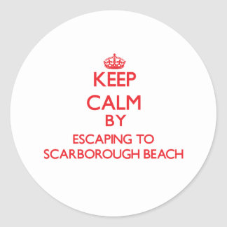 Keep calm by escaping to Scarborough Beach Maine Round Sticker