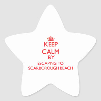 Keep calm by escaping to Scarborough Beach Maine Star Stickers