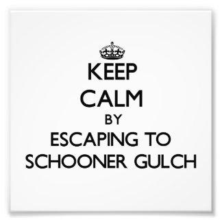 Keep calm by escaping to Schooner Gulch California Photo Print