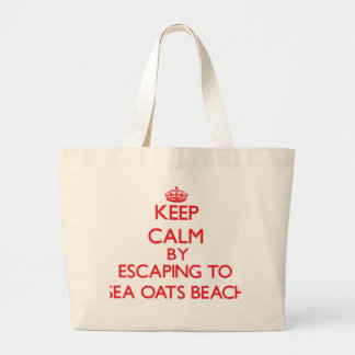 Keep calm by escaping to Sea Oats Beach Florida Tote Bags
