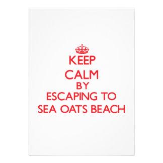 Keep calm by escaping to Sea Oats Beach Florida Custom Announcement