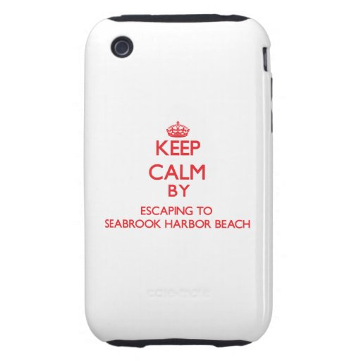 Keep calm by escaping to Seabrook Harbor Beach New Tough iPhone 3 Cases