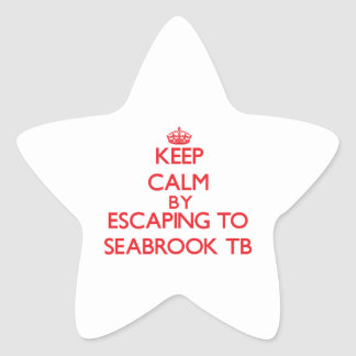 Keep calm by escaping to Seabrook Tb New Hampshire Star Stickers