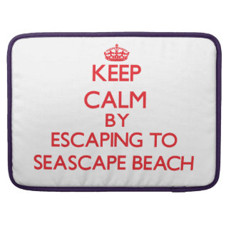 Keep calm by escaping to Seascape Beach California Sleeves For MacBooks