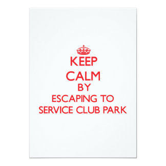 Keep calm by escaping to Service Club Park Florida 5x7 Paper Invitation Card
