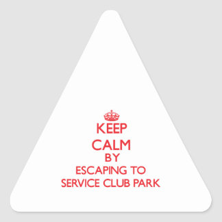 Keep calm by escaping to Service Club Park Florida Stickers