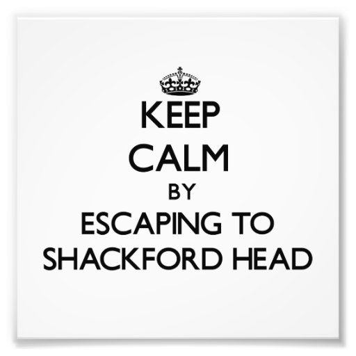 Keep calm by escaping to Shackford Head Maine Photograph