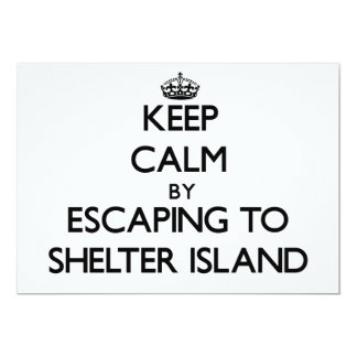 Keep calm by escaping to Shelter Island New Jersey 5x7 Paper Invitation Card