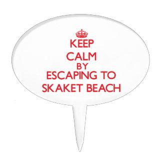 Keep calm by escaping to Skaket Beach Massachusett Cake Topper