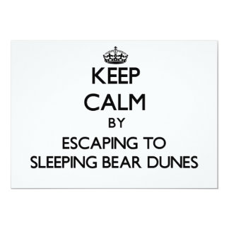 Keep calm by escaping to Sleeping Bear Dunes Michi Personalized Invites