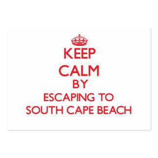 Keep calm by escaping to South Cape Beach Massachu Business Card Template