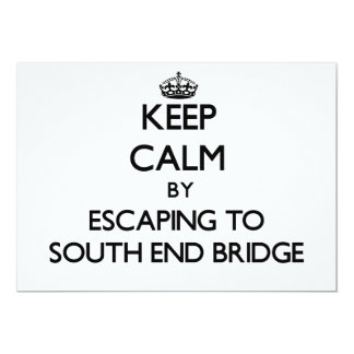 Keep calm by escaping to South End Bridge Florida 5x7 Paper Invitation Card