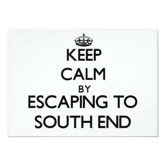 Keep calm by escaping to South End Florida 5x7 Paper Invitation Card